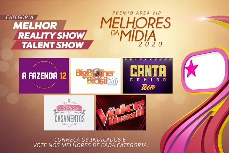 Qual foi o Melhor Reality Show/Talent Show de 2020? – Vote no Prêmio Área VIP!