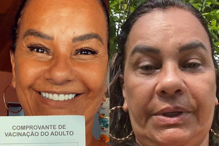 """Após receber vacina da Covid-19, Solange Couto rebate críticas: """"Não tomei a frente de ninguém"""""""