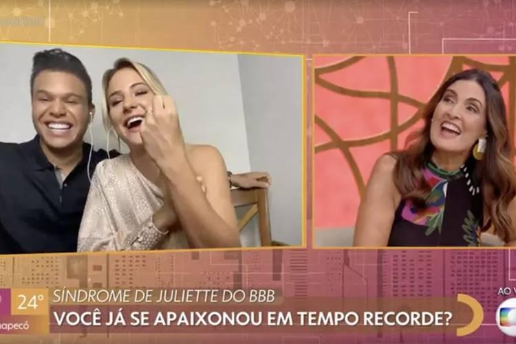 No programa ''Encontro'' Gabi Martins abre o jogo e fala sobre início de relacionamento com Tierry - Foto: Reprodução/Rede Globo