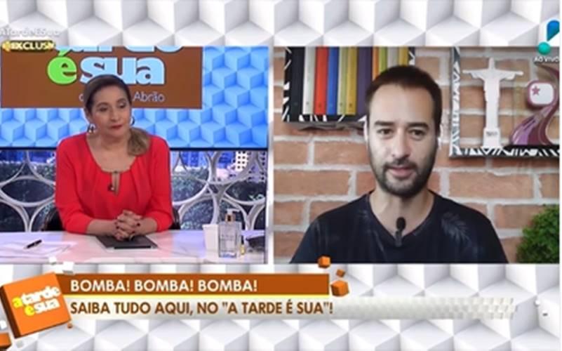 Alessandro Lo Bianco no a Tarde é Sua (Reprodução/Rede TV/Instagram)