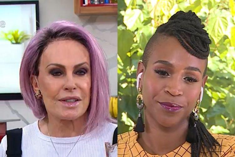 Ana Maria Braga e Karol Conká - Reprodução: TV Globo (Montagem: Área VIP)