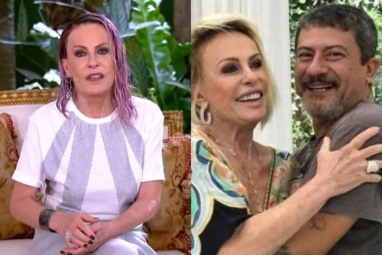 """Emocionada, Ana Maria Braga lembra de aniversário de Tom Veiga: """"Saudades"""" - Foto: Reprodução/Rede Globo/ Montagem Área VIP"""