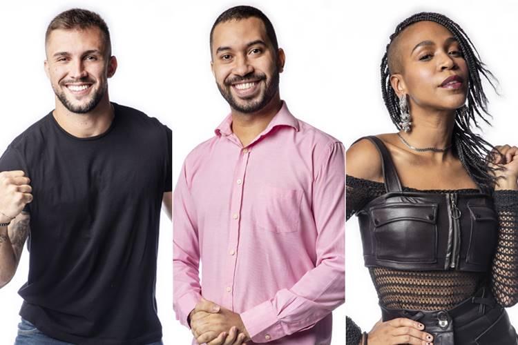 BBB21 - Arthur - Gilberto - Karol Conká (Globo/Fábio Rocha)