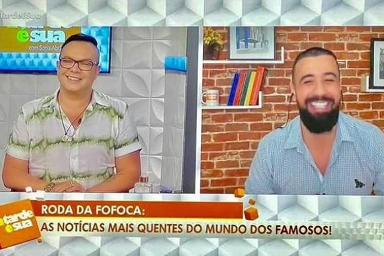 Felipeh Campos e Bruno Tálamo no A Tarde é Sua (Reprodução/Rede TV/Instagram)