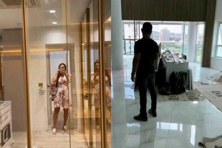 Graciele Lacerda mostrando um pouco do apartamento luxuoso - Reprodução: Instagram