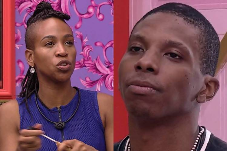 BBB 21: Após trégua, Karol Conká volta a falar mal de Lucas Penteado - ''Soberbo'' - Foto: Reprodução/Rede Globo/ Montagem Área VIP