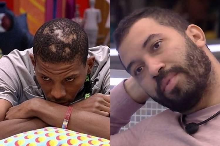 BBB21: Lucas e Gilberto temem que mães recebam ataques na Internet - Foto: Reprodução/ Rede Globo/ Montagem Área VIP