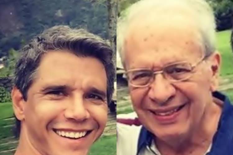 Nas redes sociais, Márcio Garcia relembra último aniversário do pai, vítima do novo Coronavírus - Foto: Reprodução/ Instagram/ Montagem Área VIP