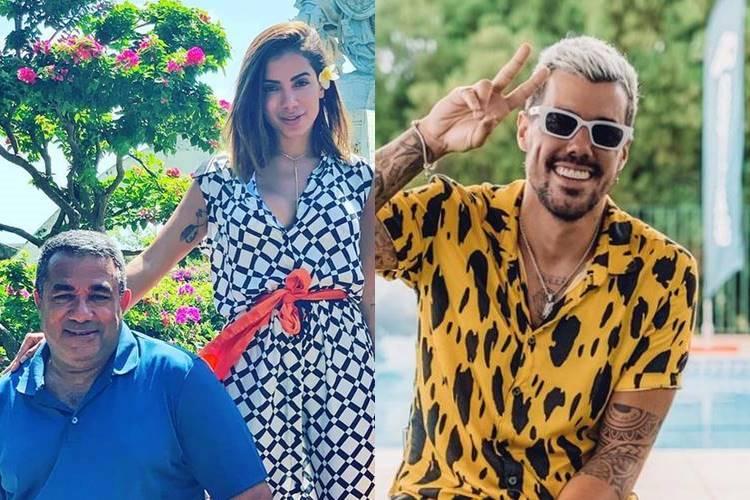 Pai de Anitta aprova romance de cantora com Lipe Ribeiro - Foto: Reprodução/ Instagram/ Montagem Área VIP