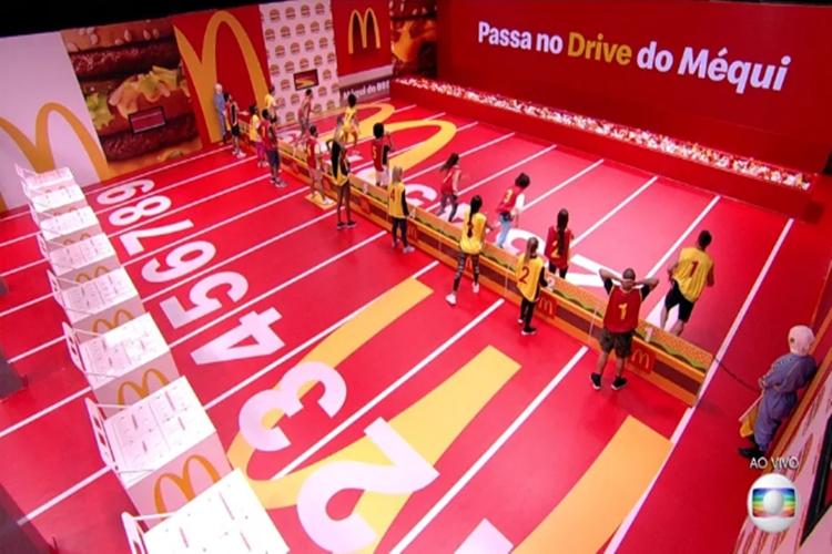 Participantes na prova do Lider da semana Foto reprodução TV Globo