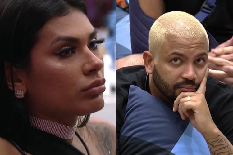 Pocah e Projota/ Montagem Área Vip - Reprodução Globo