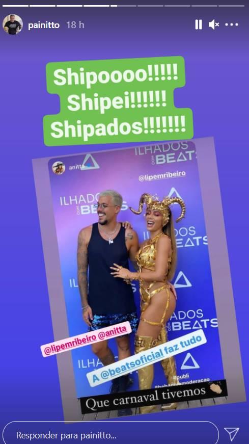 Pai de Anitta aprova romance de cantora com Lipe Ribeiro - Foto: Reprodução/Instagram