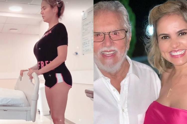 Internada com Covid-19, esposa de Carlos Alberto de Nóbrega faz fisioterapia - Foto: Reprodução/ Instagram