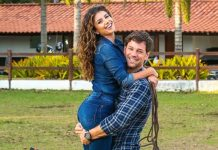 Sertaneja Paula Fernandes e namorado Rony Cecconello