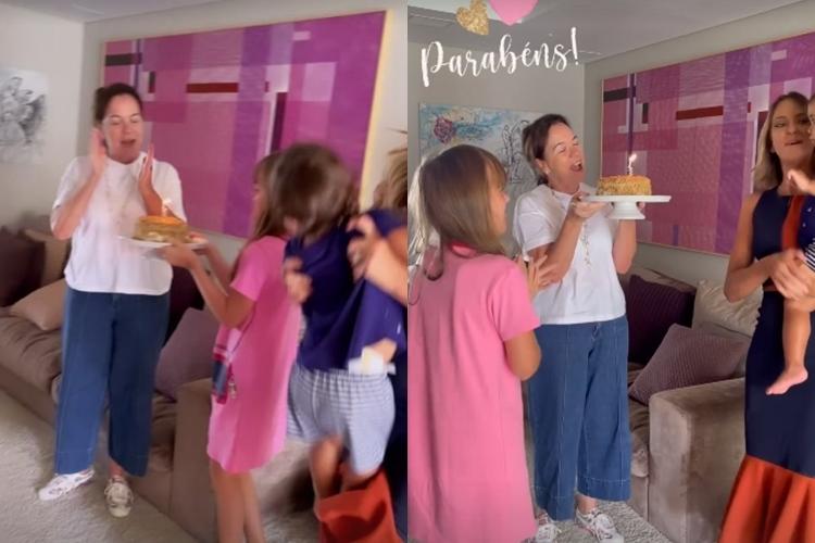 Ticiane Pinheiro e sogra Edna fotos Instagram