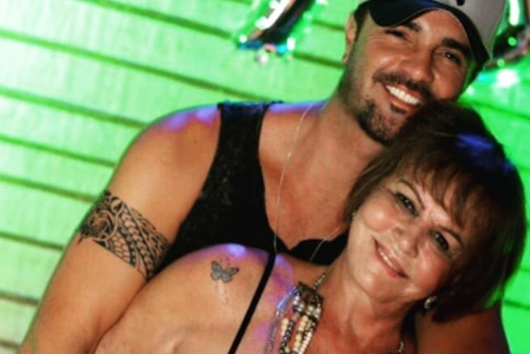 Rodrigo Phavanello e sua mãe foto reprodução Instagram