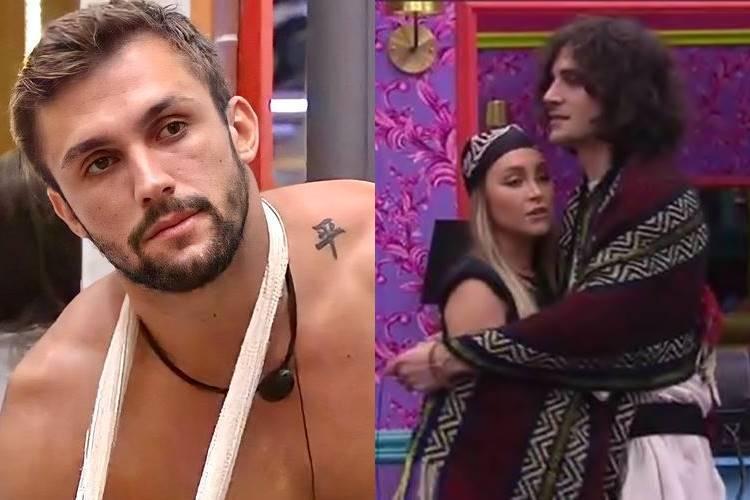 BBB21: Em bate-papo com Sarah, Arthur revela que sentiu ciúmes de Fiuk com Carla Diaz - ''Não sou obrigado'' - Foto: Rede Globo/ Montagem Área VIP