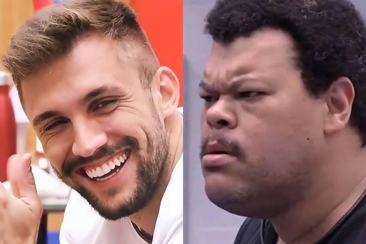 BBB21: Arthur é zoado ao se comparar com Babu Santana - ''Trajetória é igual' - Foto: Reprodução/ Rede Globo/ Montagem Área VIP