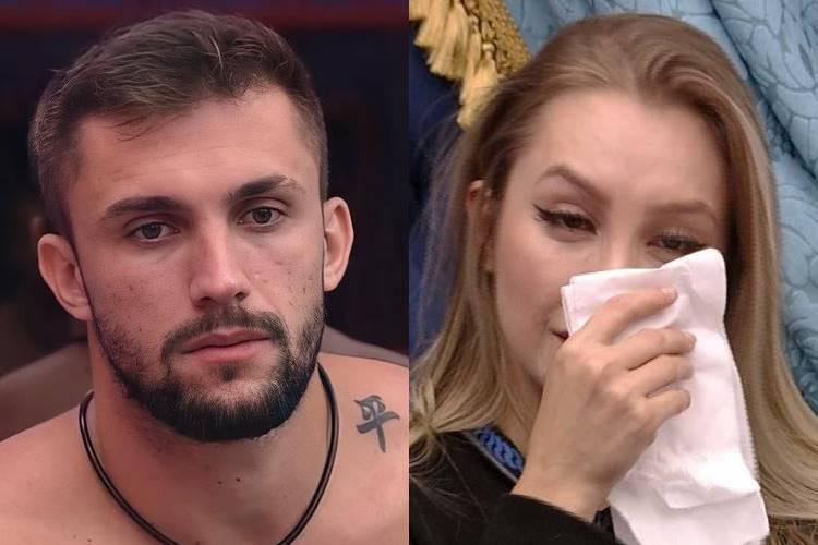 BBB21: Em discussão, Arthur se queixa e afirma que Carla Diaz criou imagem de ''homem abusivo'' em cima dele - Foto: Reprodução/ Rede Globo/ Montagem Área Vip
