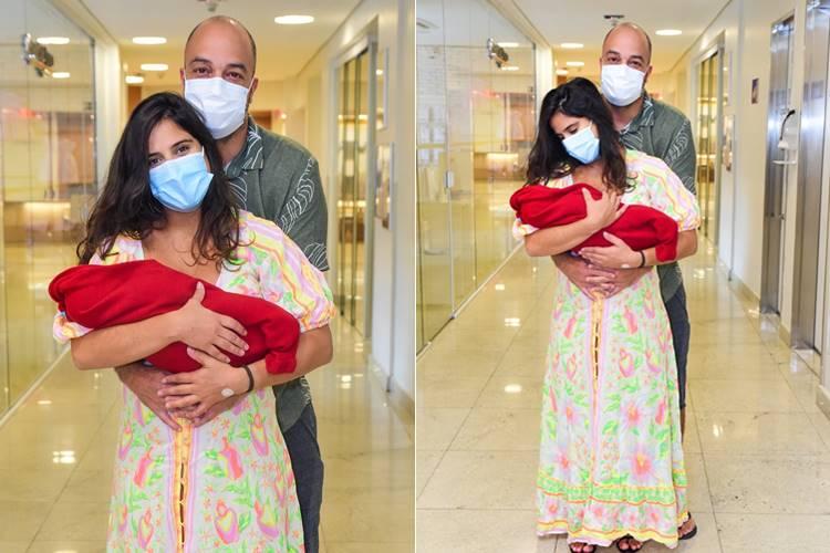 Camilla Camargo deixa a maternidade (Leo Franco / AgNews)