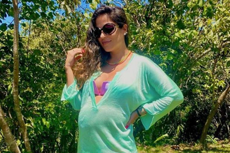 """Camilla Camargo mostra quartinho de filha na reta final da gestação: """"Tema é mar"""""""