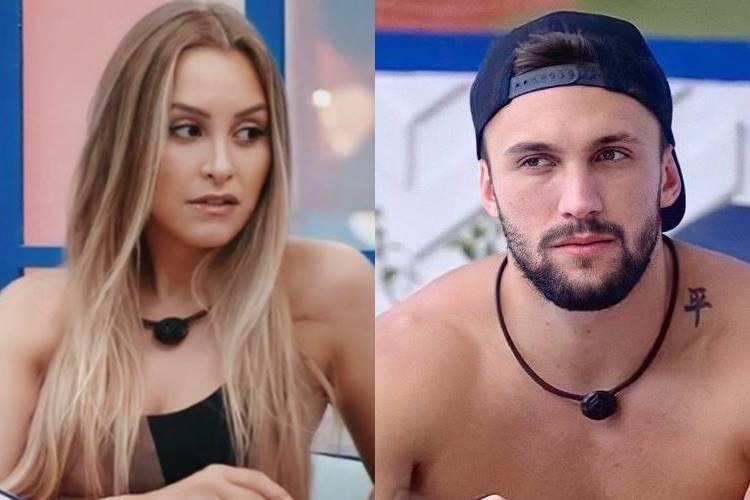 BBB21: Irritada, Carla Diaz reclama para Pocah sobre Arthur - ''Vai dar o anjo para o Projota'' - Foto: Reprodução/ Rede Globo/Montagem Área VIP