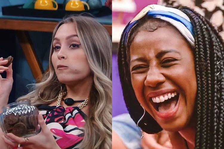 BBB21: Finalmente Carla Diaz revela poder conquistado em paredão Falso e Camilla de Lucas ri - Foto: Reprodução/ Rede Globo/ Montagem Área VIP