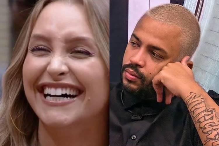 Carla Diaz e Projota - Reprodução/ Rede Globo/ Montagem Área VIP