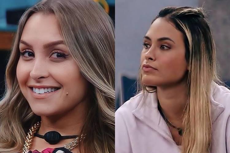 BBB21: Preocupada com o retorno de Carla Diaz ao jogo, Sarah comenta - ''Ela ouviu tudo, não olhou na minha cara'' - Foto: Reprodução/ Rede Globo/ Montagem Área VIP