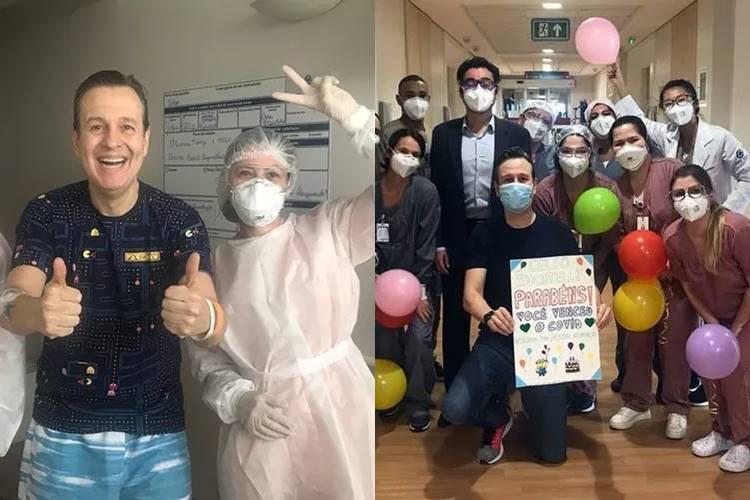 Após 10 dias internado com Covid-19, Celso Zucatelli recebe alta hospitalar - Foto: Reprodução/ Instagram/ Montagem Área VIP