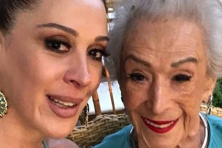 Claudia Raia com a mãe, Dona Odette (Reprodução/Instagram)