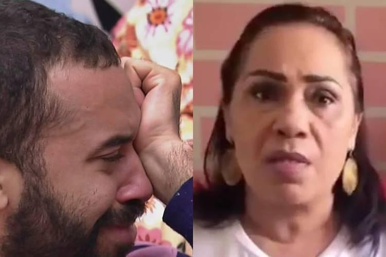 BBB21: Após homenagem do Dia das Mulheres, Gilberto vai às lágrimas ao ficar preocupado com mãe - Foto: Reprodução/ Rede Globo e Instagram/ Montagem Área VIP