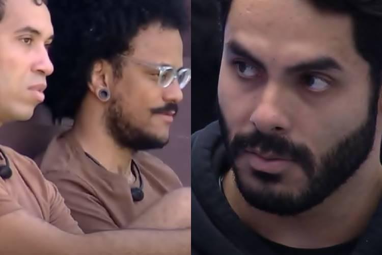 BBB21: João Luiz e Gilberto demonstram insatisfação com Rodolffo e disparam - ''Muito ranço'' - Foto: Reprodução/ Rede Globo/ Montagem Área VIP