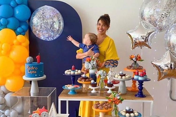 Gisele Itié e filho Luna foto reprodução Instagram