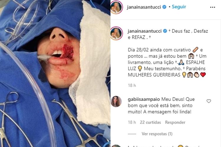 Janaina Santucci foto reprodução Instagram