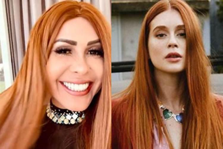 """Joelma fica ruiva e Marina Ruy Barbosa brinca: """"perdi meu reinado"""""""