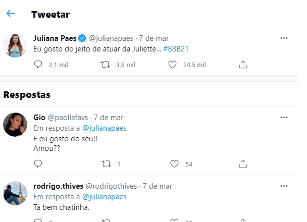 Juliana Paes, Twitter