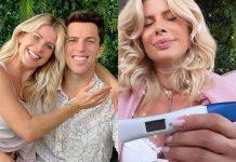 Karina Bacchi posa com teste de gravidez e surpreende marido - Foto: Reprodução/ Instagram/ Montagem Área VIP