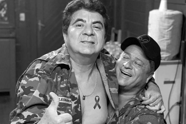 Cantor Leonardo presta homenagem ao amigo Passim: ''Uma dor que pensava nunca mais sentir na vida'' - Foto: Reprodução/ Instagram/ Montagem Área VIP