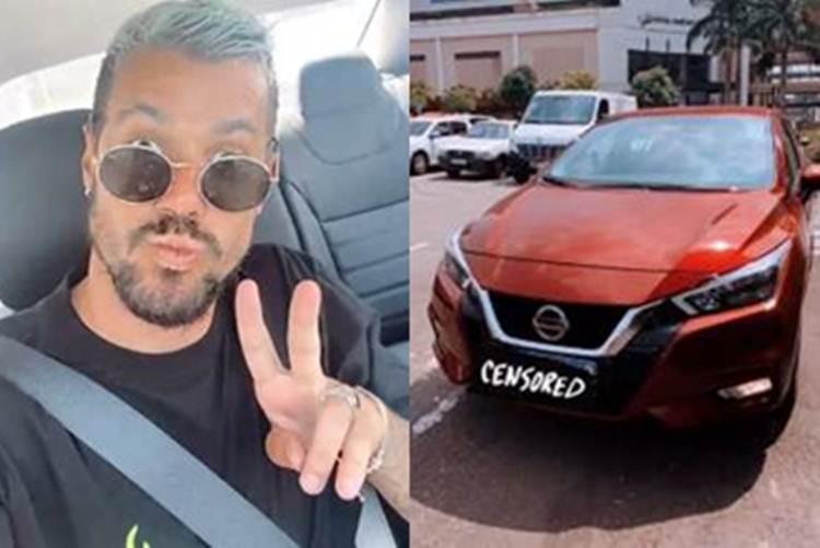 Lipe Ribeiro recebe carro que ganhou em 'A Fazenda 12'