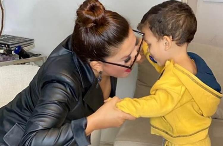 Mara Maravilha encanta seguidores com foto do filho de  perfil