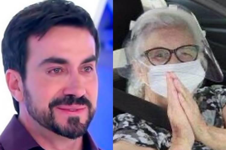 Após ser vacinada contra Covid-19, mãe de Padre Fabio de Melo está Coronavírus - Foto: Reprodução/ SBT e Instagram/ Montagem Área VIP