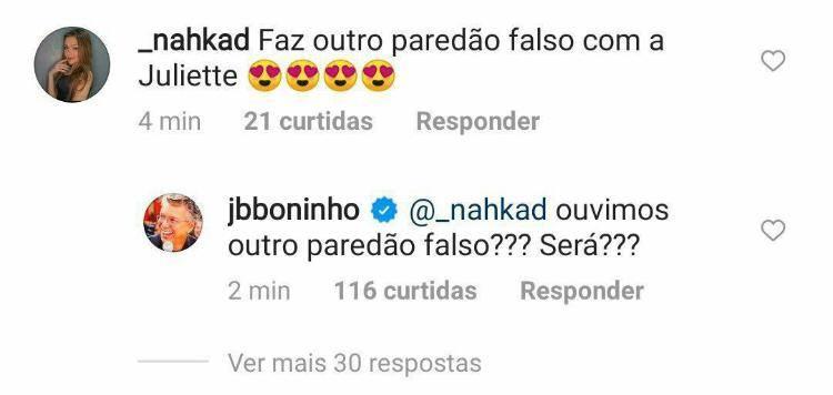 BBB21: Fãs pedem por novo paredão falso e Boninho faz suspense - Foto: Reprodução/ Twitter