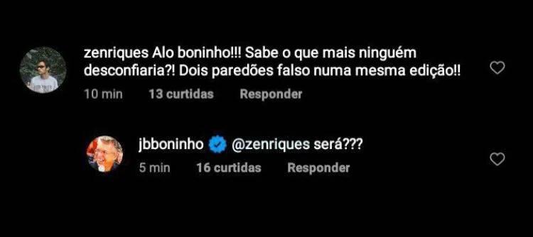 BBB21: Fãs pedem por novo paredão falso e Boninho faz suspense - Foto: Reprodução/ Instagram