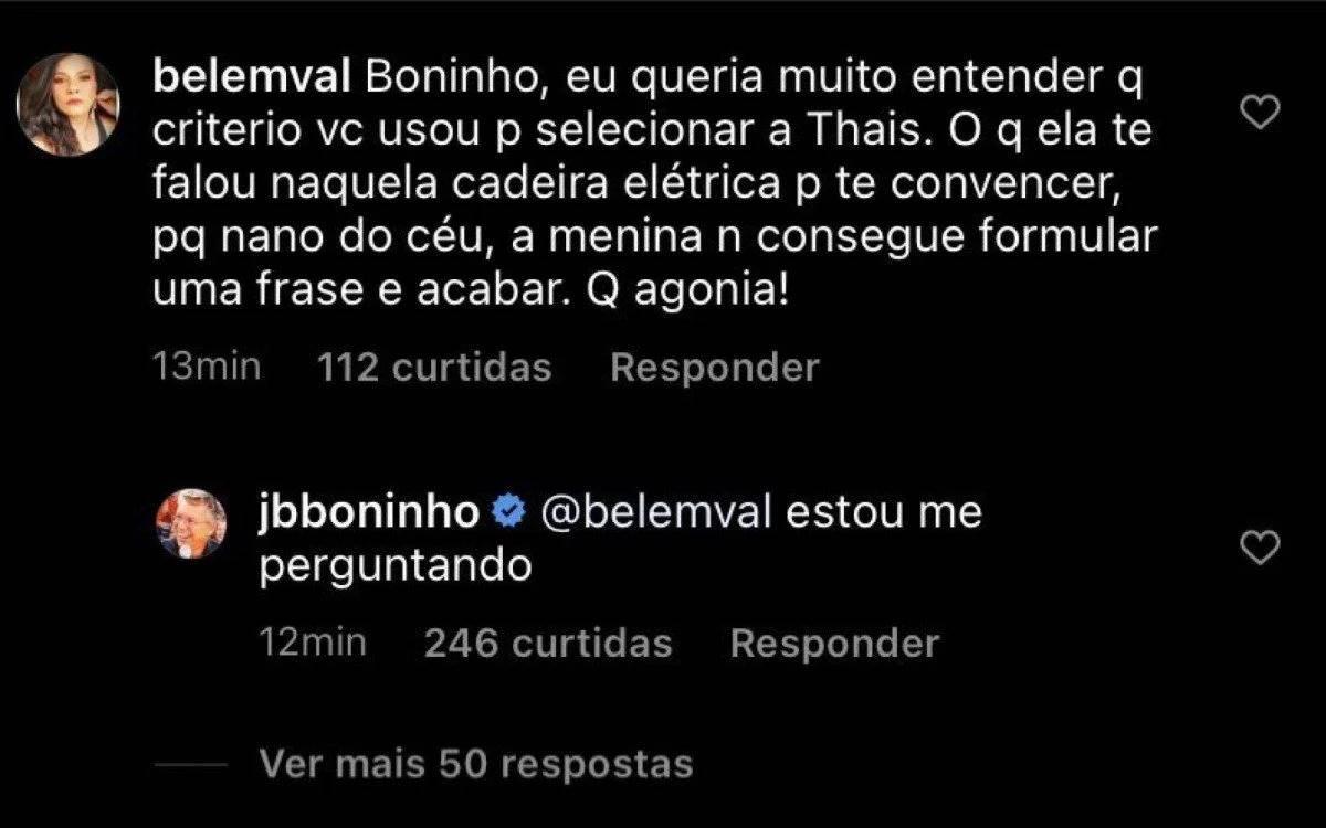 BBB 21: Após ''Jogo da Discórdia'' Boninho demonstra arrependimento por ter selecionado Thaís para o reality - Foto: Reprodução/ Instagram