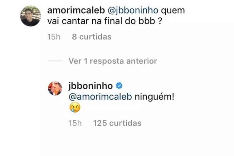 BBB21: Pela primeira vez, Boninho fala sobre a final do reality - Foto: Reprodução/ Instagram
