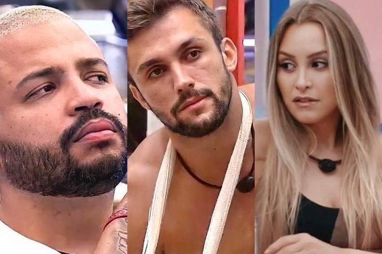 """BBB21: Arthur e Projota se unem para falar mal de Carla Diaz-  """"Falta senso nela"""" - Foto: Reprodução/ Rede Globo/ Montagem Área VIP"""