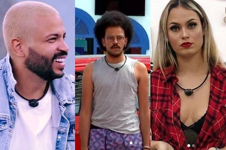 Projota, João Luiz, e Sarah, foto reprodução Instagram e montagem Area VIP