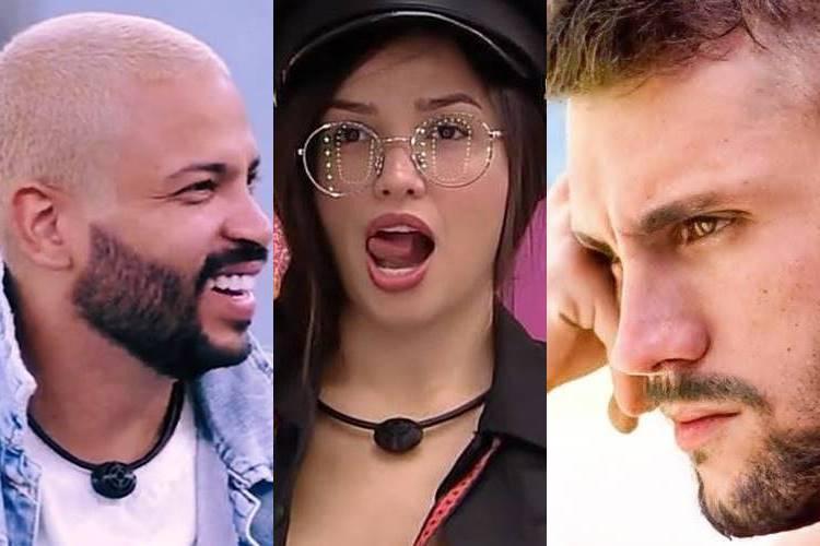 BBB21: Em tom de ironia, Projota conta para Arthur sobre reação de Juliette ao monstro - ''Revoltada'' - Foto: Reprodução/Rede Globo/Montagem Área VIP