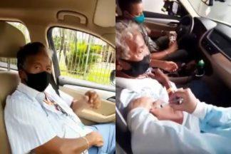 Fiel escudeiro de Silvio Santos, Roque é vacinado contra a Covid-19: ''O dia mais aguardado'' - Foto: Reprodução/ Instagram/ Montagem Área VIP